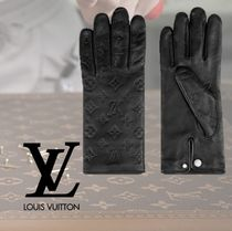 Louis Vuitton MONOGRAM Monogram Cashmere Silk Gloves Gloves