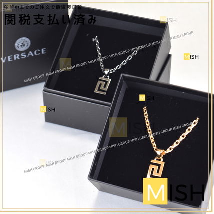 VERSACE Unisex Metal Logo Necklaces & Chokers