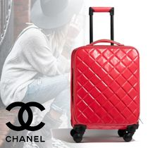 CHANEL Blended Fabrics 1-3 Days Soft Type Carry-on