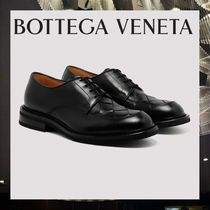 BOTTEGA VENETA Plain Leather Oxfords
