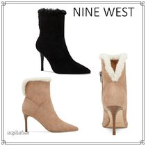 Nine West Suede Plain Pin Heels Party Style Office Style Elegant Style
