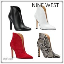 Nine West Plain Other Animal Patterns Leather Pin Heels Party Style