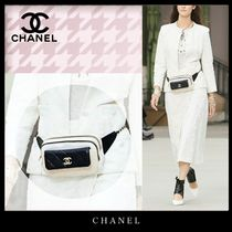 CHANEL Casual Style Unisex 2WAY Leather Elegant Style Crossbody