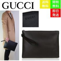 GUCCI Unisex Street Style Bag in Bag Plain Leather