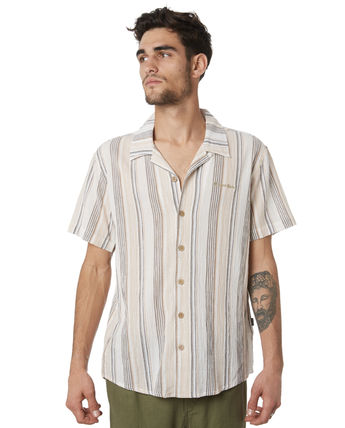 Stripes Short Sleeves Logo Surf Style Shirts