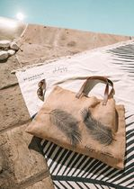 The Beach People Casual Style Blended Fabrics Plain Totes