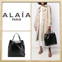 Azzedine Alaia Casual Style A4 2WAY Plain Leather Office Style