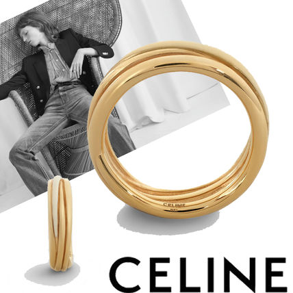 CELINE Rings Party Style Brass Office Style Formal Style  Rings