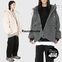 Raucohouse Casual Style Unisex Street Style Plain Medium Outerwear