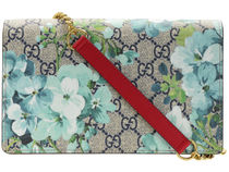 GUCCI Flower Patterns Chain PVC Clothing Bags