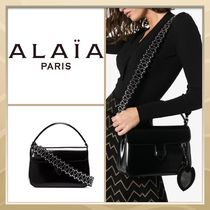 Azzedine Alaia Casual Style Studded 2WAY Plain Leather Party Style