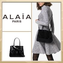 Azzedine Alaia Casual Style A4 2WAY Plain Leather Party Style Elegant Style