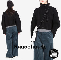 Raucohouse Short Casual Style Street Style Cotton Cropped