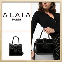 Azzedine Alaia Casual Style 2WAY Plain Leather Party Style Shoulder Bags