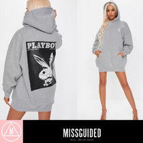 Missguided Unisex Rib Street Style Collaboration Long Sleeves Cotton
