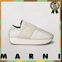 MARNI Suede Blended Fabrics Plain Sneakers
