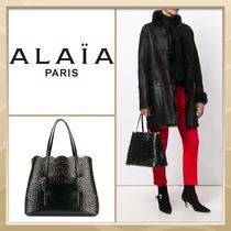 Azzedine Alaia Casual Style Blended Fabrics A4 Plain Leather Office Style