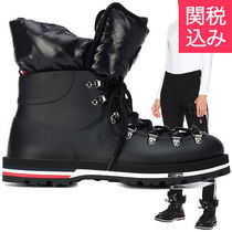 MONCLER Rubber Sole Blended Fabrics Wedge Boots