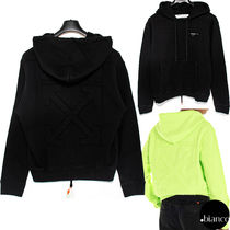 Off-White Pullovers Sweat Street Style Long Sleeves Cotton Logo