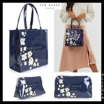 TED BAKER Flower Patterns PVC Clothing Bags