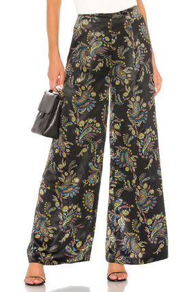 Paisley Casual Style Long Party Style Elegant Style Pants