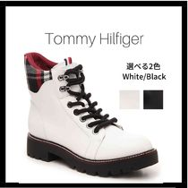 Tommy Hilfiger Tartan Other Check Patterns Mountain Boots Round Toe