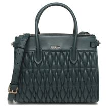 FURLA PIN Casual Style 2WAY Plain Leather Office Style Elegant Style