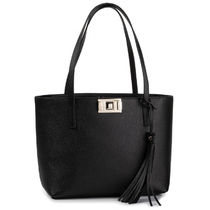 FURLA MIMI Casual Style Tassel A4 Plain With Jewels Co-ord Totes
