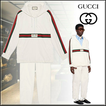 GUCCI Cotton Canvas Pant With Gucci Label