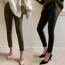 Faux Fur Leather & Faux Leather Pants