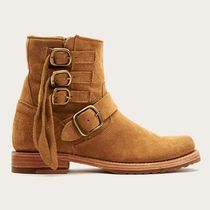 FRYE Round Toe Casual Style Suede Plain Flat Boots