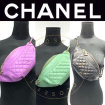 CHANEL MATELASSE Other Check Patterns Unisex Street Style 2WAY Chain Plain