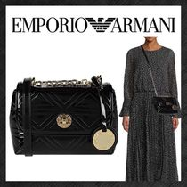 EMPORIO ARMANI Casual Style Faux Fur 2WAY Plain Party Style Elegant Style