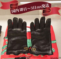 GUCCI Unisex Plain Leather Leather & Faux Leather Gloves