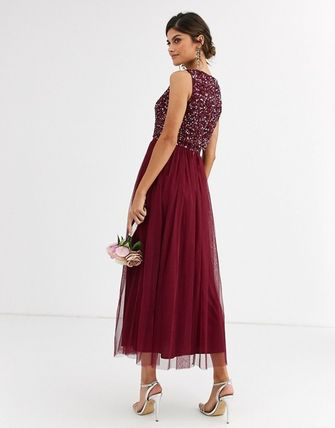 A-line Sleeveless Medium Dresses