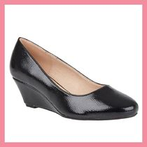 Lipsy Round Toe Plain Leather Party Style Wedge Pumps & Mules