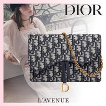 Christian Dior Monogram Calfskin Canvas Blended Fabrics 2WAY Chain