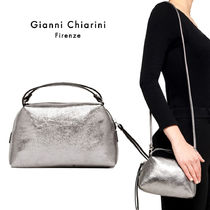 GIANNI CHIARINI Casual Style 2WAY Leather Handmade Shoulder Bags