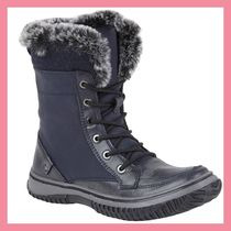 Lipsy Round Toe Rubber Sole Casual Style Faux Fur Plain