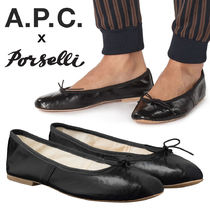 A.P.C. Leather Handmade Ballet Shoes