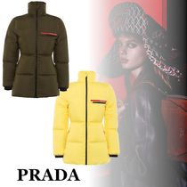PRADA Linea Rossa Nylon Plain Down Jackets