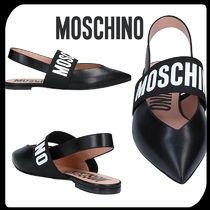 Moschino Plain Leather Sandals Sandal