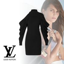 Louis Vuitton Short Wool Nylon Long Sleeves Plain Party Style