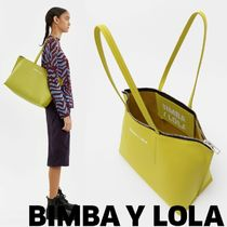 bimba & lola Casual Style Plain Leather Totes