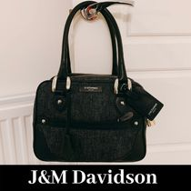 J & M Davidson Mia Casual Style Blended Fabrics Plain Leather Shoulder Bags