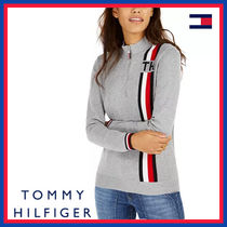 Tommy Hilfiger Stripes Street Style Bi-color Long Sleeves Plain Cotton