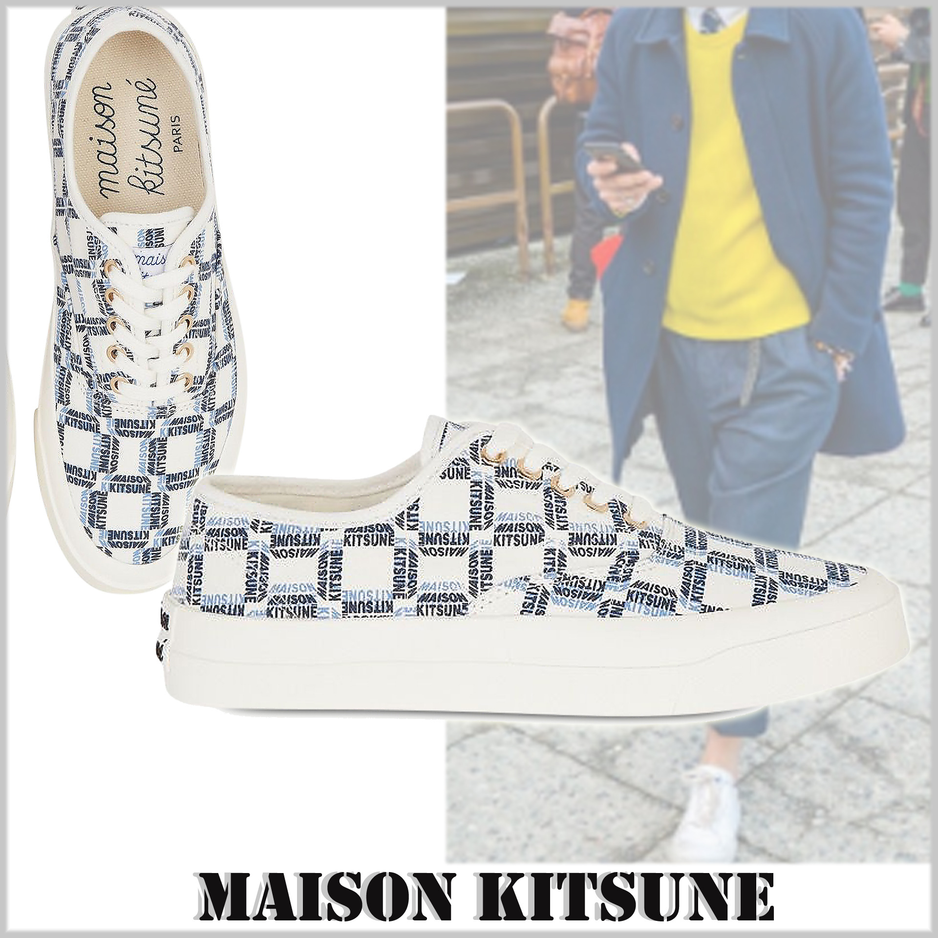 shop maison kitsune shoes