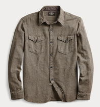 RRL Button-down Long Sleeves Cotton Shirts