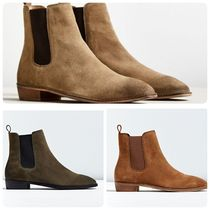 Urban Outfitters Unisex Suede Street Style Plain Boots