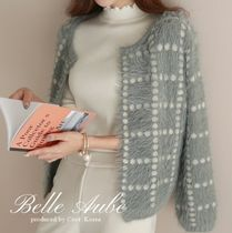 Long Sleeves Medium Elegant Style Cardigans